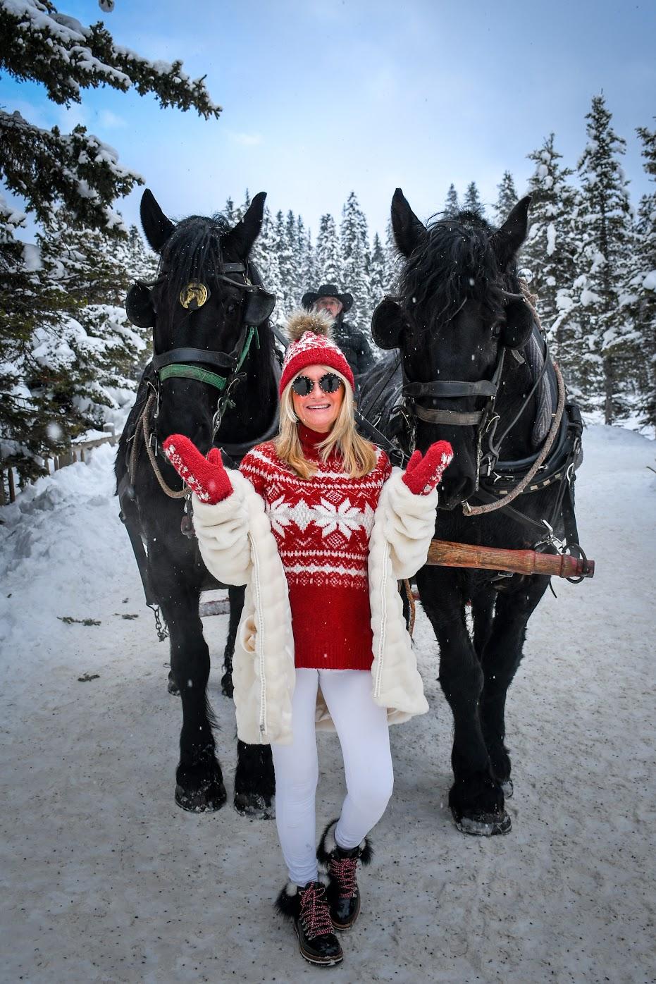 sleigh ride lake louise