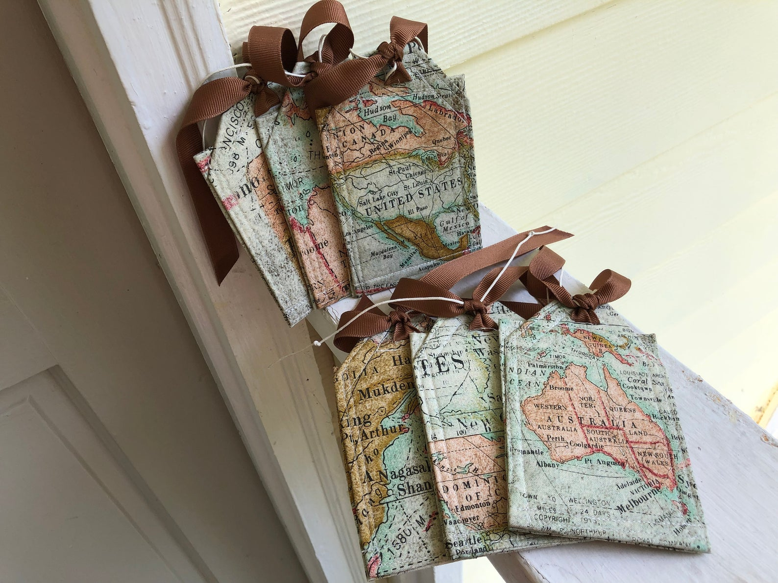 world map luggage tags mother's day gift