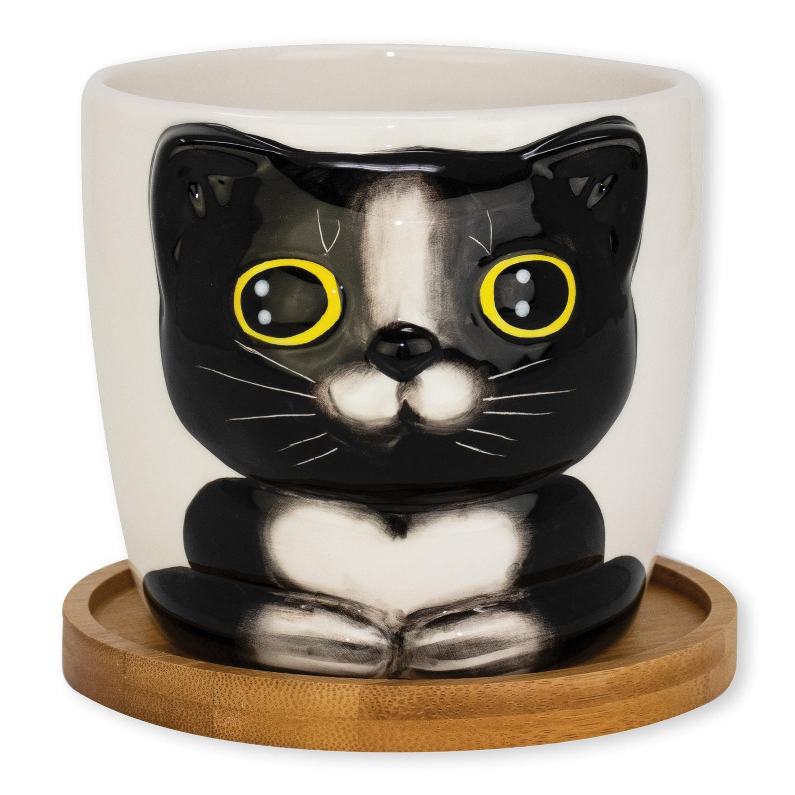 cat flower pot mother's day gift