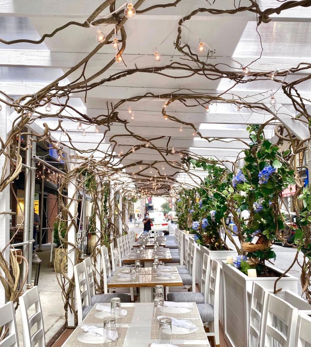 KYMA NYC outdoor dining romantic