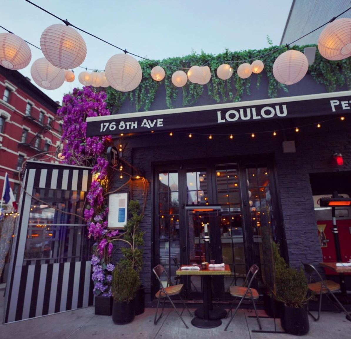 Loulou romantic outdoor dining NYC